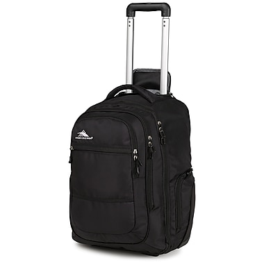 High Sierra Rev Wheeled Laptop Backpack, Black