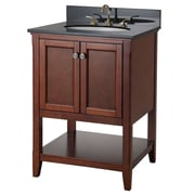 Foremost Auguste Collection Vanities, Chestnut Finish, 2 Slow Close Doors, Open Shelf, Top and Faucet Not Included