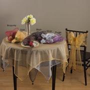 Saro Dotted Organza Chair Tie; Black