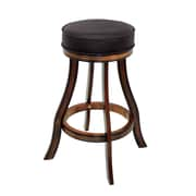 RAM Game Room 30'' Swivel Bar Stool with Cushion; Chestnut