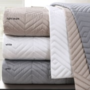 Echelon Home Monterey Quilted Cotton Euro Sham (Set of 2); Light Taupe