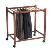 Woodlore Pant Trolley 26'' H x 24.75'' x 16.25'' D Portable Garment Rack