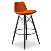 Aeon Furniture 29'' Bar Stool with Cushion (Set of 2); Orange