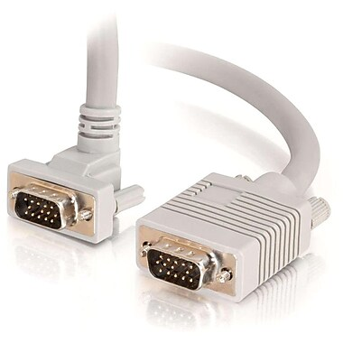 C2G 3Ft Hd15 Sxga M/M Prem Shld W/Downward-Angled Connector Mntr Cable (52015)