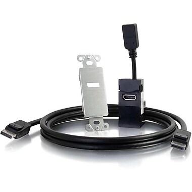 C2G DisplayPort To HDMI Wall Platealuminum Decora Style (29442)