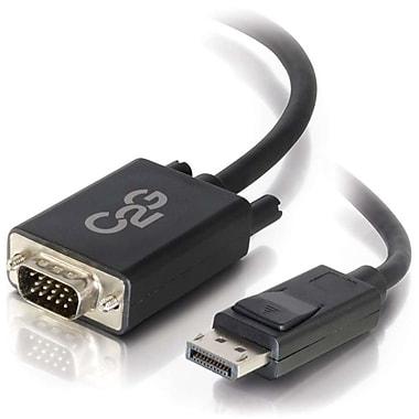 C2G – Adaptateur convertisseur actif DisplayPort mâle vers VGA mâle, 6 pi, noir (54332)
