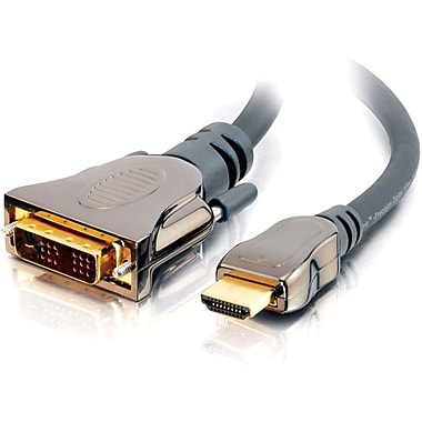 C2G – Câble vidéo numérique Sonicwave HDMI DVI mâle/mâle, 0,5 m (40286)