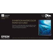 "Epson® Exhibition Watercolor Textured Fine Art Paper For Printer, 17"" x 50"", White"
