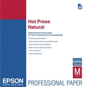 "Epson® Hot Press Natural Fine Art Paper For Printer, 13"" x 19"", White"