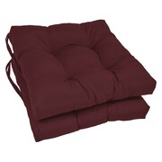 Blazing Needles Dining Chair Cushion (Set of 2); Burgundy