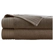 Colonial Textiles 2 Piece Bath Towel Set; Mocha