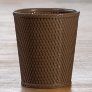 LaMont Carter Round Wastebasket; Chocolate