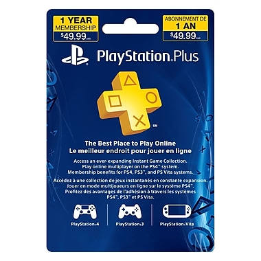 PlayStation® Plus, 12 Month Subscription Card