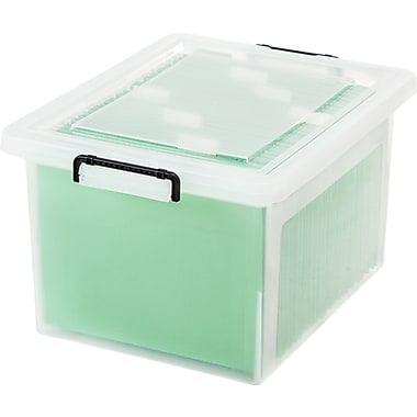 IRIS® 36 Quart Letter / Legal Size File Box with Buckles