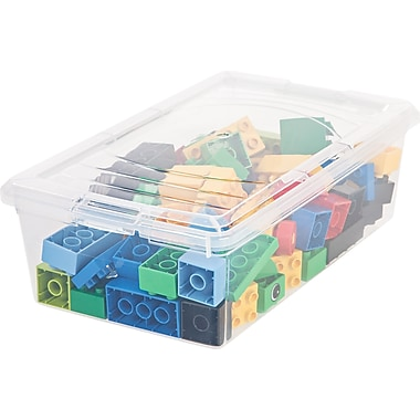 IRIS® 6 Quart Clear Storage Box, 18 Pack (101461)