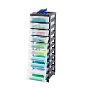 Staples® Plastic/Poly 10-Drawer Mobile Tower (116009)