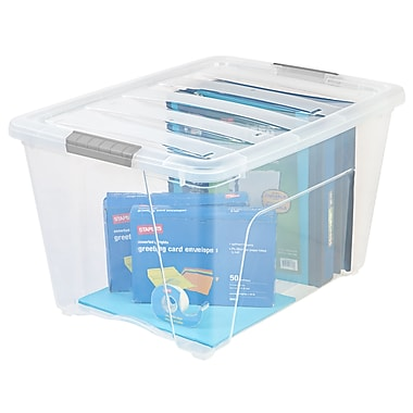 IRIS® 54 Quart Stack & Pull Modular Box, Clear with Clear Lid (100243)