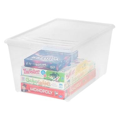 IRIS® 64 Quart Deep Clear Storage Box, 8 Pack (101561)