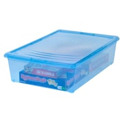 IRIS® 33 Quart Storage Box, Transparent Blue, 12 Pack (101547)