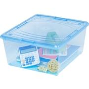 IRIS® 21 Quart Storage Box, Transparent Blue, 14 Pack (101508)