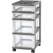IRIS® 4 Drawer Storage Cart, Gray (585000)