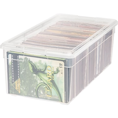 IRIS® 15 Quart Media Storage Box, 6 Pack (166070)