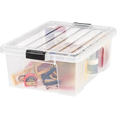 IRIS® 11 GAL Heavy Duty Storage Tote, Clear, 4 Pack (251602)