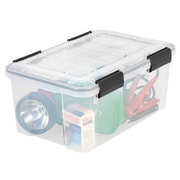 IRIS® 19 Quart Weathertight Plastic Storage Box, Clear, 6 Pack (110380)