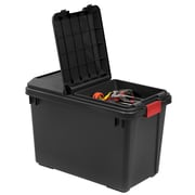 IRIS® 25.5 GAL Heavy Duty Storage Tote, Black, 4 Pack (250171)