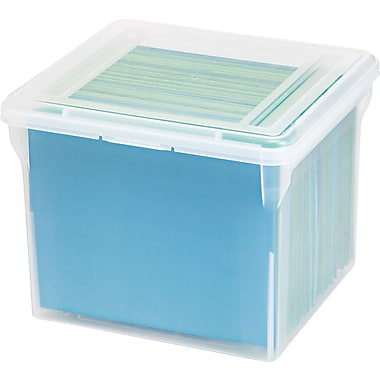 IRIS® File Tote Box, Clear (585210)