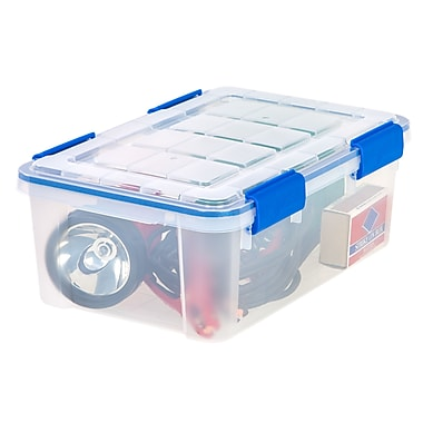 Ziploc® 16 Quart WeatherShield Storage Box, 6 Pack (394025)