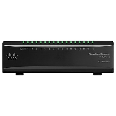 Cisco SF100D-16-NA 16-Port Unmanaged Ethernet Switch