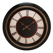 "Kiera Grace 20"" Everett Round Wall Clock, Brown"