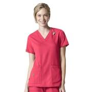 Carhartt® CROSS-FLEX Women's V Neck Media Scrub Top, Azalea, Small