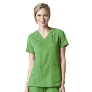 Carhartt® CROSS-FLEX Women's V-Neck Media Scrub Top, Medium, Grass Green
