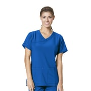 Carhartt® CROSS-FLEX Women's Y Neck Fashion Scrub Top, Royal, X-Large