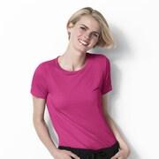 WonderWink® Layers Short Sleeve Silky Tee, Small, Hot Pink