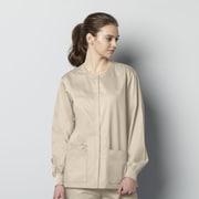 WonderWink® WonderWORK Unisex Scrub Snap Jacket, XS Khaki