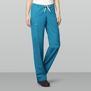 WonderWink® WonderWORK Unisex Drawstring Cargo Scrub Pants, Small/Tall, Teal