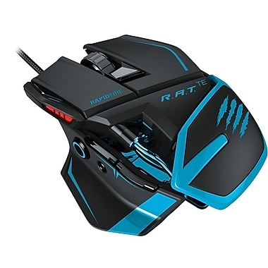Mad Catz R.A.T.TE Gaming Mouse for PC and Mac, Blue