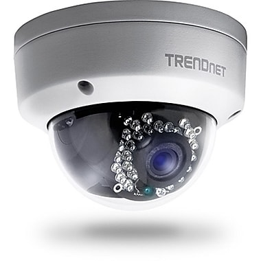 TRENDNet Outdoor 1.3 MP HD PoE Dome IR Network Camera, White