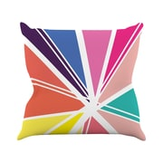 KESS InHouse Boldly Bright Polyester Throw Pillow; 18'' H x 18'' W