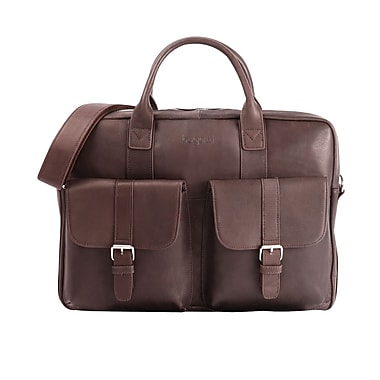 Bugatti Colombian Leather Executive Briefcase, Brown