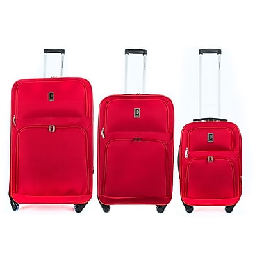 Champs 3-Piece Globe Collection Spinner Set, Red