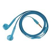 V7® HA130-21NC 3.9' Wired Binaural Earbud with Microphone, Blue