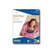 "Epson ® Super B Glossy Photo Paper, 19"" x 13"", White, 20 Sheets/Pack (S041143)"