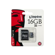Kingston SDC4/16GB Class 4 16GB microSDHC Flash Memory Card