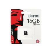 Kingston ® SDC4/16GBSP Class 4 16GB microSDHC Flash Memory Card