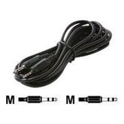 STEREN® 252-684 6' 3.5mm Mini-Phone to 2.5mm Sub-Mini-Phone Male/Male Audio Patch Cord, Black