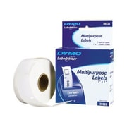 "Dymo 30332 1"" Multipurpose Label, Black on White, 750/Roll"